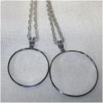 "ILA 1293 - Pendent Silver Magnifier 4X2"""
